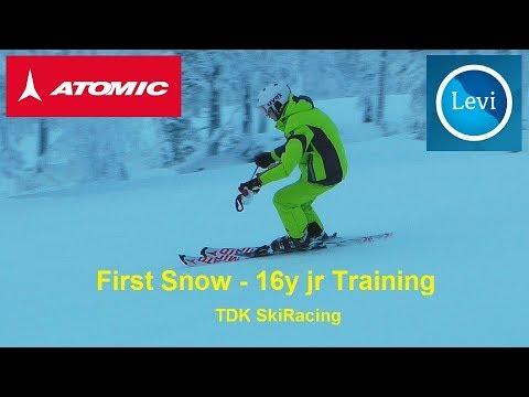 First Snow - 16y jr Training @ LEVI