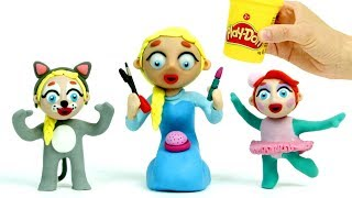 Baby Heroes party 💕 Play Doh Stop motion videos for children