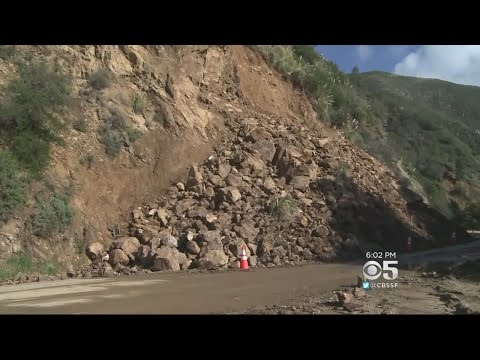 Highway 1 Closed Due To Mudslides Near Big Sur