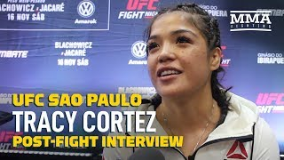 Tracy Cortez Gives Emotional Reaction To UFC Sao Paulo Win: 'My Brother Passed The Baton To Me'