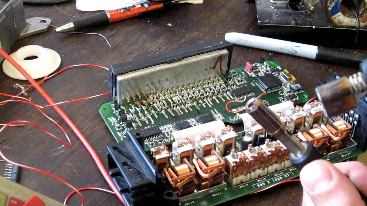 1992 Mercedes 500sl Wiring Diagram Ra Rodeo Stereo R129 Roof Controller Repair 1298200097 Youtube