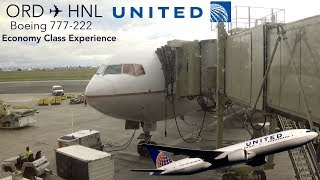 TRIPREPORT | United Airlines | Chicago to Honolulu | B777-222 | Economy Class Experience!