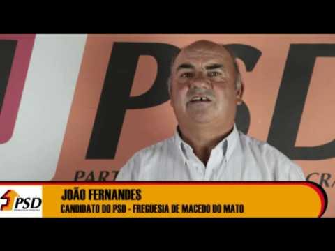 Candidato à Assembleia de Freguesia de Macedo do Mato
