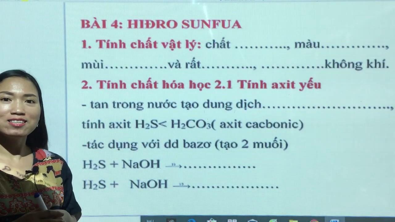 Hiđro Sunfua | H2S | Hóa Học 10