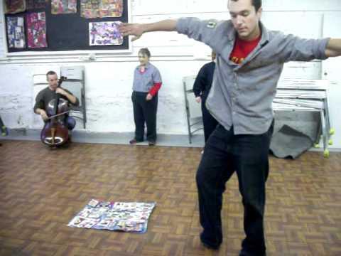 Choreographer Dave Ingram interprets Mike C collage