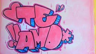 Como Hacer Graffiti En Papel Te Amo Fer Art By Fer Art