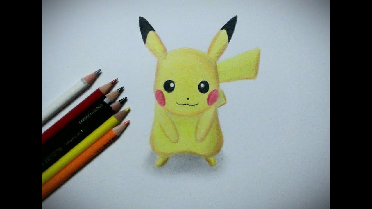 【ポケモン】ピカチュウ 描いてみた【色鉛筆画】How to draw Pokemon Pikachu