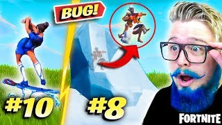 THE 10 BIGGEST BUGS AND GLITCHES OF FORTNITE (SEASON 8)-FORTNITE