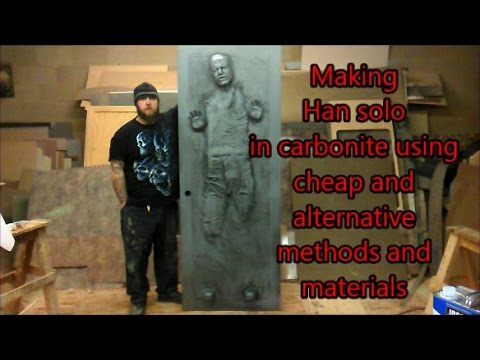 making a  Han solo in carbonite from Star wars using cheap and alternative methods and materials DIY