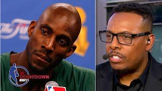 Paul Pierce describes talking to Kevin Garnett the day Kobe Bryant died | NBA Countdown