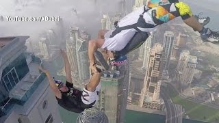 Jumpers Fly Off Dubai's Tallest Residential Building (VIDEO)