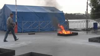 11  Чемпионат Мира по пожарно-спасательному спорту. Огнетушители ОП-2 Пульвекс в действии