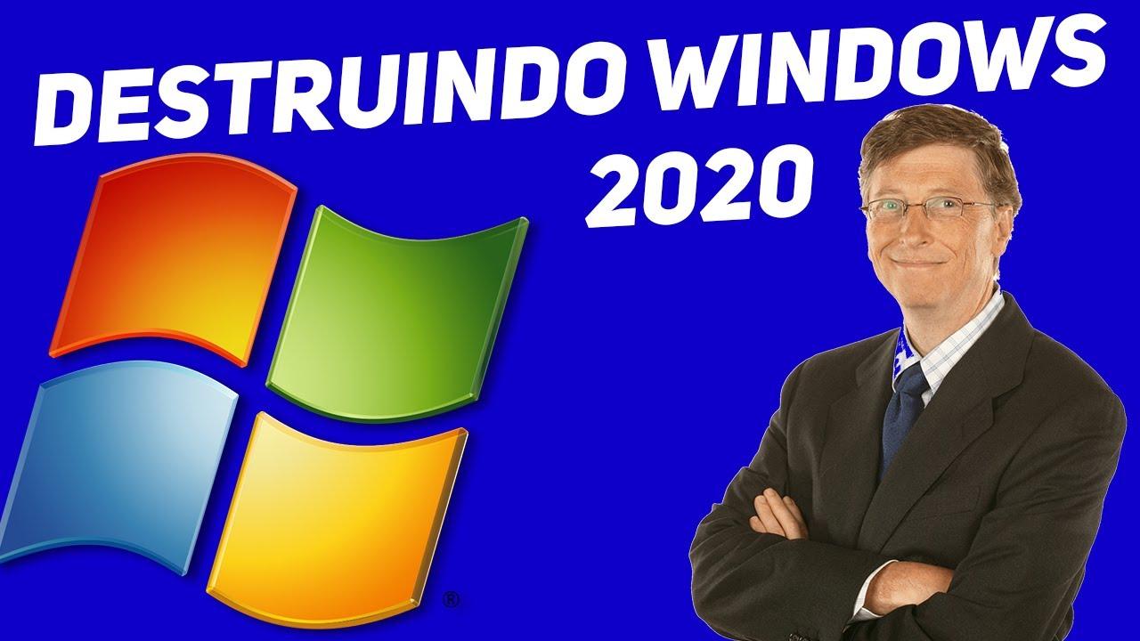 DESTRUINDO WINDOWS EM 2020 EM TEMPO RECORDE