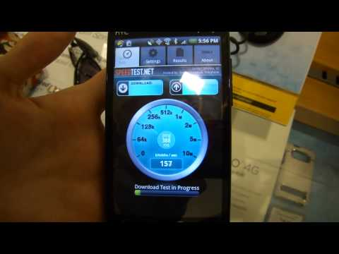 4G Speedtest from EVO 4G in Seattle area