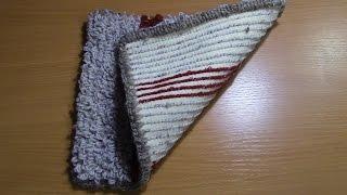 Вязание коврика на резиновой основе  Часть 4 из 6