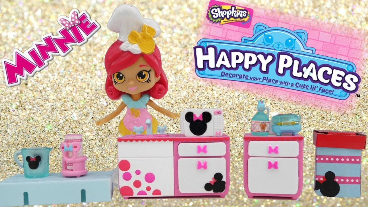 DISNEY Happy Places Minnie Mouse Waffle Kitchen Theme Pack ...