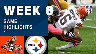 Browns vs. Steelers Week 6 Highlights | NFL 2020