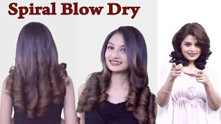 How to do SPIRAL BLOW DRY by Sam Ma'am.....(How to do Blow Dry at home)