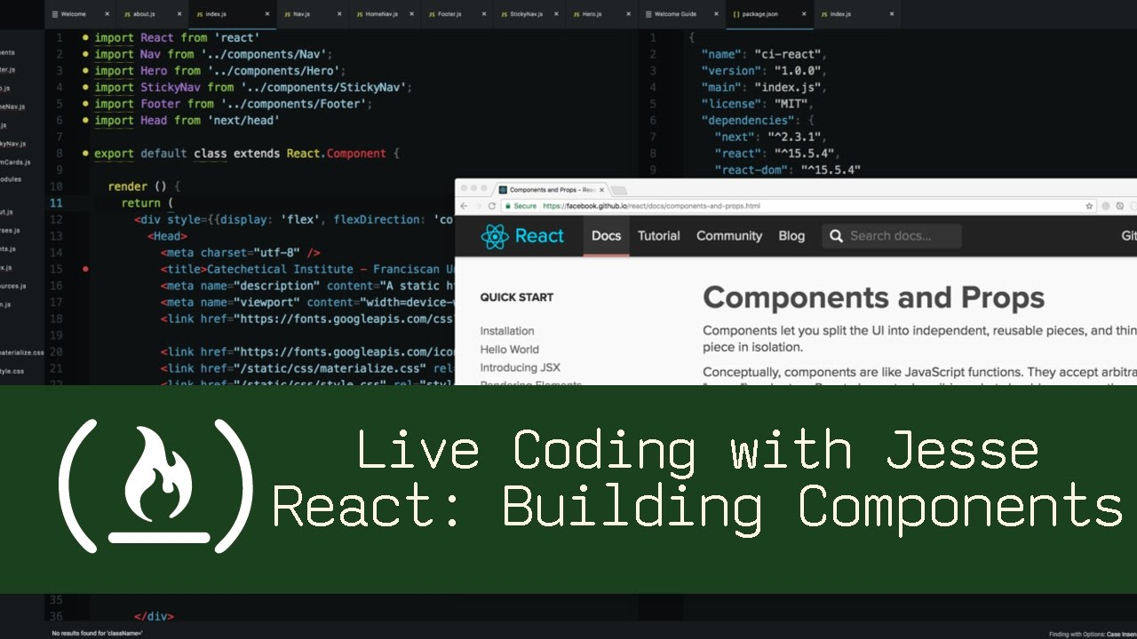 React: Building Components - Live Coding with Jesse