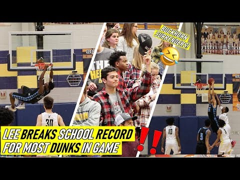 Kobe And Mason Breaks SCHOOL DUNKING RECORD!!🔥😱 Vs.  Buckhorn Buckhorn Student SECTION SURRENDERS!!!