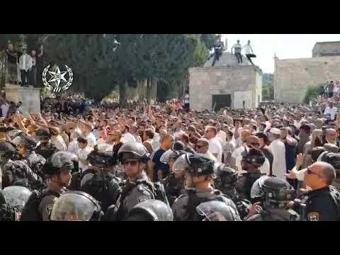 מהומות בהר הבית. צילום: דוברות המשטרה