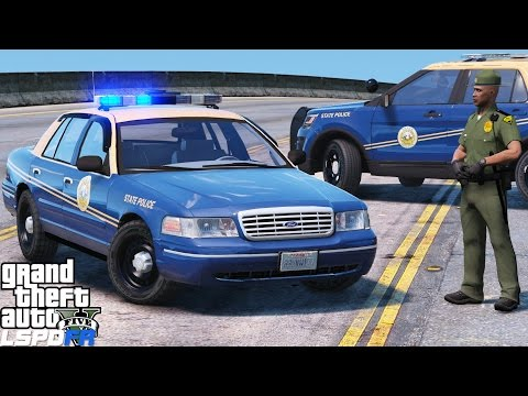 GTA 5 LSPDFR Police Mod 390 | Throw Back Thursday | West Virginia State Police Old School Crown Vic