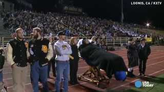 A dying wish granted at a high school football game