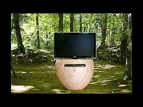 Ordinaire Ein Moderner TV Ständer Aus Birkenholz ähnelt Einer Blumenvase   YouTube