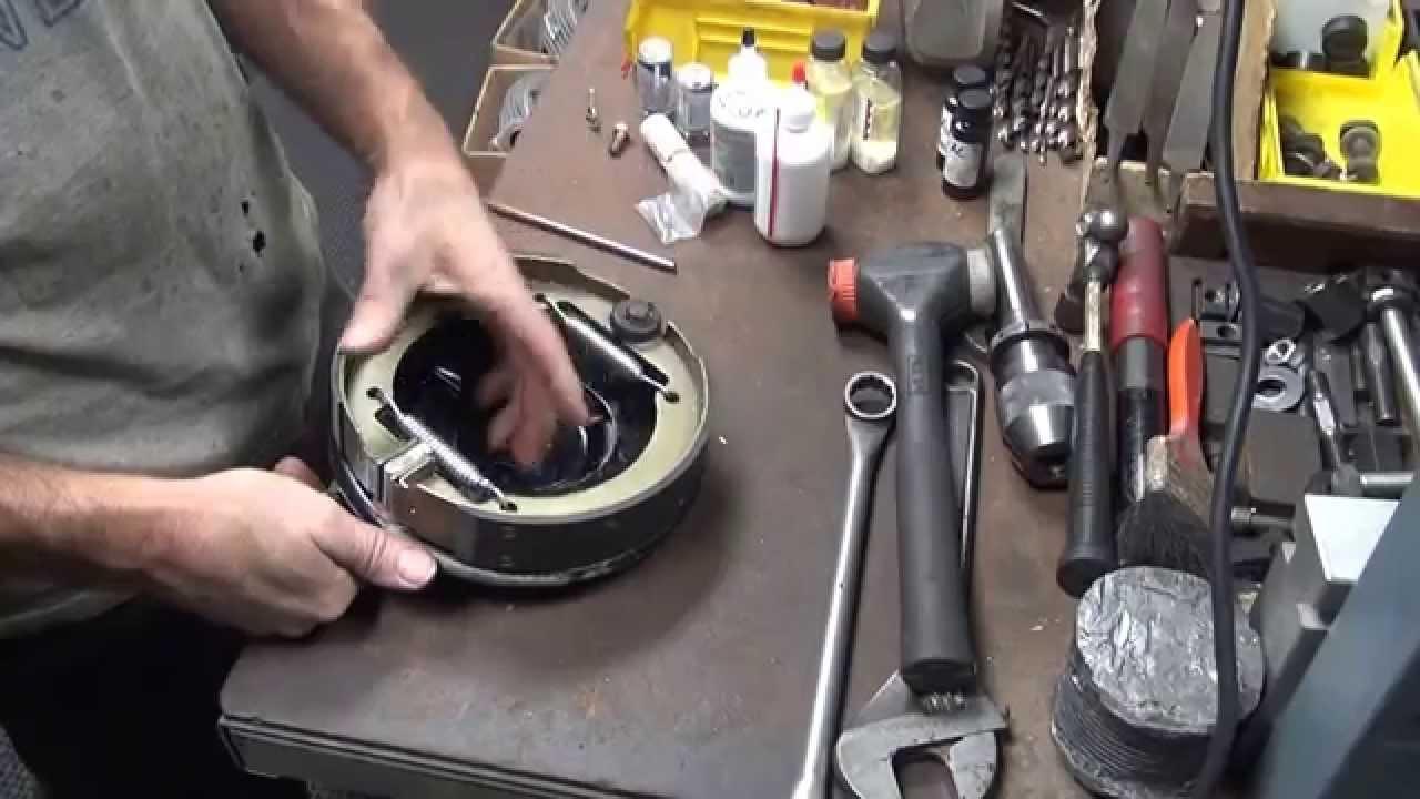 193657 mechanical rear drum brake #108 rebuild Harley