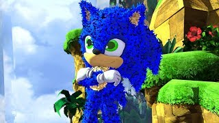 Sonic from Sonic Movie in Green Hill zone | MEGA X
