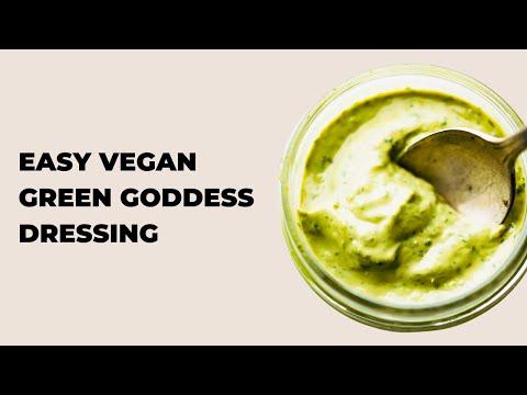 Homemade Green Goddess Dressing Recipe (Vegan)