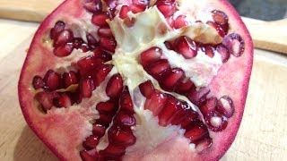 How To Deseed a Pomegranate in 10 Seconds
