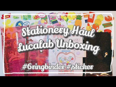 lucalab-unboxing/stationery-haul/6-ring-binder/stickers/creative-journal/collage-art/korean-bujo/