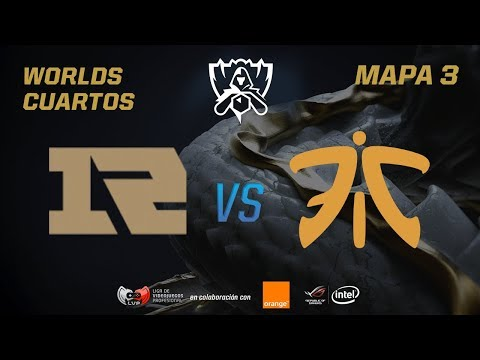 ROYAL NEVER GIVE UP VS FNATIC - CUARTOS - WORLDS 2017 - MAPA 3