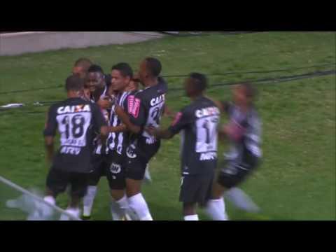 Gol de Cazares   Atlético MG 1 x 0 Santos   Campeonato Brasileiro 2016