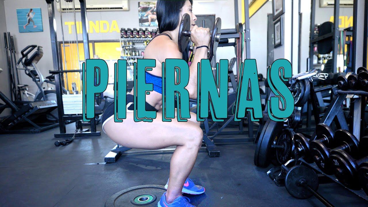 Resultado de imagen para COMO ENTRENAR TUS PIERNAS EN EL GYM - leg workout ana mojica