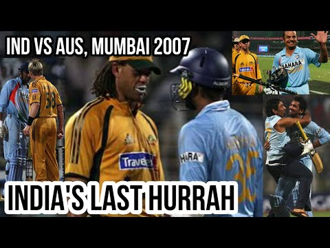 India Vs Australia @ Mumbai 7th ODI 2007 Highlights