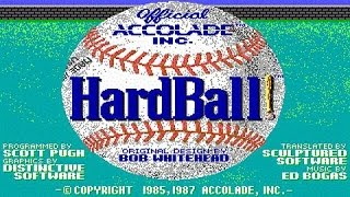 Hardball! gameplay (PC Game, 1985)