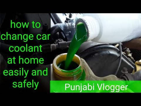 How to change car coolant at home easily and radiator flush