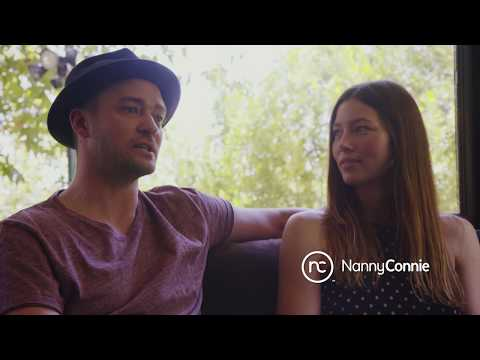 Nanny Connie with Jessica Biel and Justin Timberlake