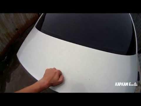 видео: Проклееная крышка багажника vw polo sedan. Вибропоглотителем и шумопоглотителем