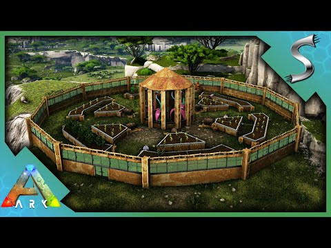 BUILDING THE ULTIMATE GARDEN FOR MY SNAILS! - ARK Survival Evolved [E73]