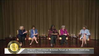 11th Annual McGowan Forum on Women in Leadership: Women in Foreign Service