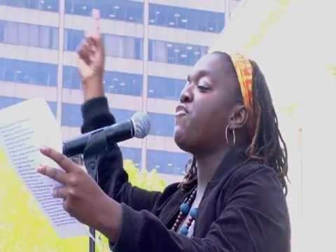 Naki Akrobettoe at Stand Up for Ohio Statehouse Ra...