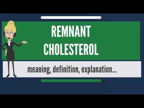 What is REMNANT CHOLESTEROL? What does REMNANT CHOLESTEROL mean? REMNANT CHOLESTEROL meaning