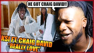 KSI – Really Love (feat. Craig David & Digital Farm Animals) [Official Music Video] REACTION