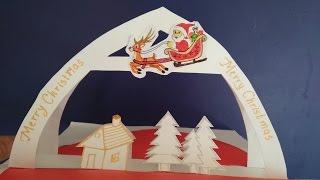 How to make pop up Christmas card
