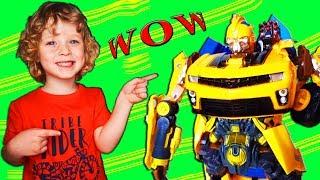 Обзор игрушки трансформера Бамблби из фильма Трансформеры. Видео от канала Dami Di