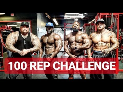 100 Repetition Overhead Press Challenge – Featuring Mike Rashid Marc Loblin