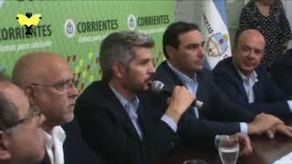 Marcos Peña en la presentación del Plan Hídrico